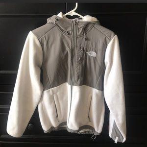 NorthFace hooded fleece zip up